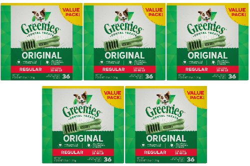 Greenies Dental Treats - Regular - 5x36 oz