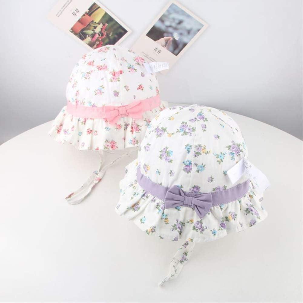 32gagwwc 1 Pcs Summer Kids Boy Girl Flower Bucket Hat Cotton Children Sun Cap Bowknot Beach Sunhat for Girls