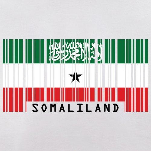 Somaliland / Republik Somaliland Barcode Flagge - Herren T-Shirt - Weiß - S