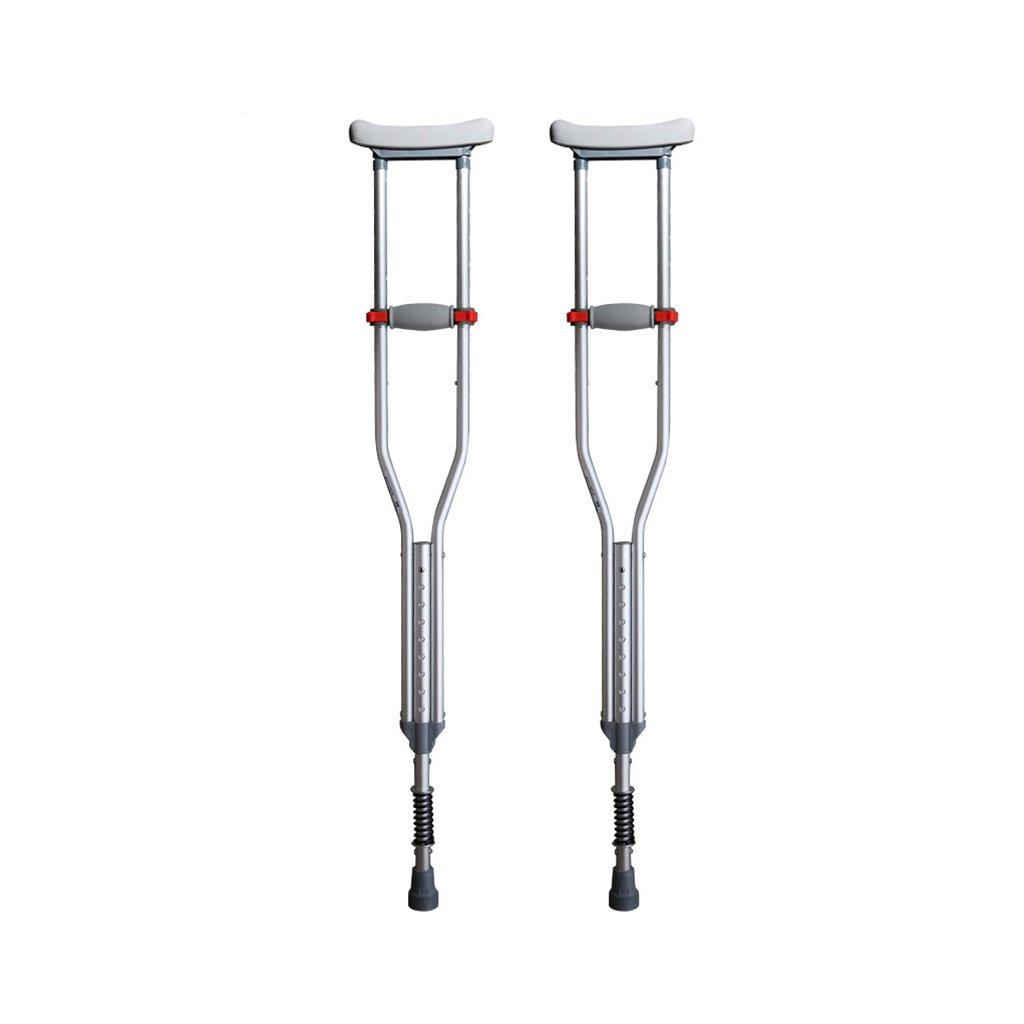NUBAO 障害のある人のための障害のある人のための障害のある人のための障害のある松葉杖/杖自由な格納式バネを備えた調節可能な範囲114-164 Cm(44.88-64.57インチ) B07D221YZG