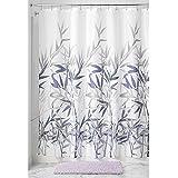 "InterDesign Anzu Fabric Shower Curtain, 72"" x 72"", Coral/Gray"