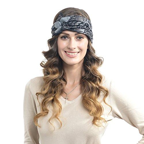 FORBUSITE 100% Wool Dress Winter Headband Bsz5036 (Gray)