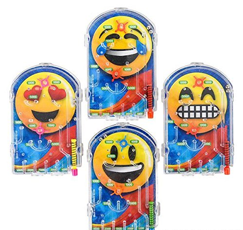DollarItemDirect 3'' EMOTICON PINBALL GAME, Case of 30