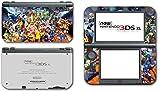 Super Smash Bros Melee Brawl Mario Pikachu Yoshi Mega Man Zelda Sonic Metroid Fire Emblem Video Game Vinyl Decal Skin Sticker Cover for the New Nintendo 3DS XL LL 2015 System Console