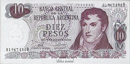 billetes para coleccionistas: Argentina Pick-No.: 295 unc 1973 10 Pesos Prophila