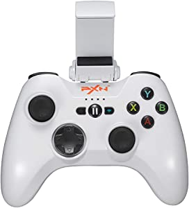Mfi Game Controller for iPhone PXN Speedy(6603) iOS Gaming Controllers for Call of Duty Gamepad with Phone Clip for Apple TV, Ipad, iPhone (White)