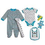 Cutie Pie Baby Boys 9 Piece Layette Gift Set In Tulle Bag, Little Gentleman 0-3 Months