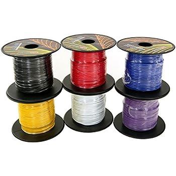 CBAZY™ Hook up Wire Kit (Stranded Wire Kit) 18 Gauge Flexible ...