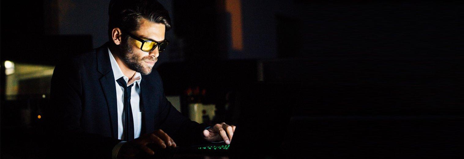 GUNNAR Gaming and Computer Eyewear /Intercept, Amber Tint - Patented Lens, Reduce Digital Eye Strain, Block 65% of Harmful Blue Light by Gunnar Optiks (Image #1)