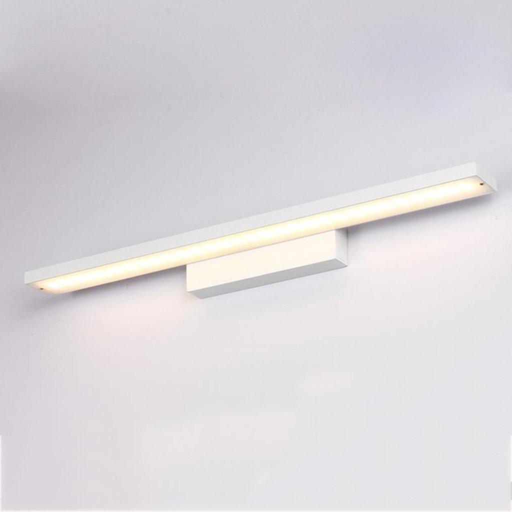& Spiegellampen Led Spiegel Scheinwerfer, Badezimmer Badezimmer Einfache Aluminium Spiegel Badezimmerbeleuchtung (Farbe   A-Warmweiß-24w100cm)