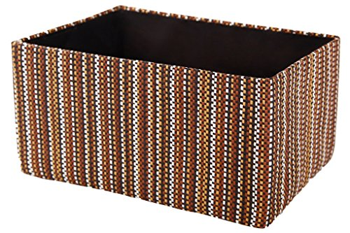 Perber Storage Basket Foldable Cube Organizers Bin Clothes Toys Storage Boxes Containers Drawer (Medium) (Old Woven Baskets)