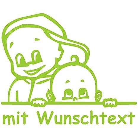 Babyaufkleber Autoaufkleber Für Geschwister Mit Wunschtext Motiv G3 Jj 16 Cm Baby