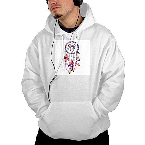 Indian Catcher Feathers Pullover Sweaterswith Pocket For Womens Hoodies dowdy (White Saltwater Series Great Bow)