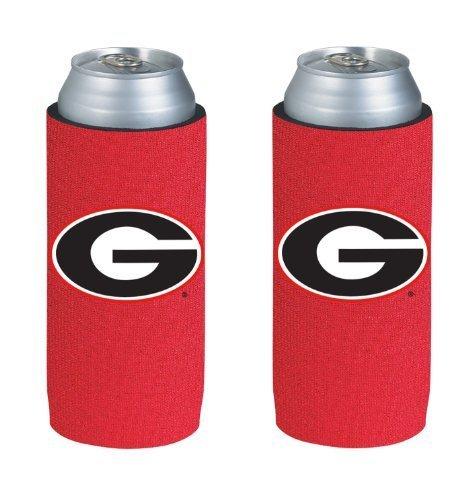 NCAA 2013 College Ultra Slim Beer Can Holder Koozie 2-Pack (Georgia Bulldogs)