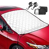 63'' x 54'' Foldable Windshield Sunshade Cover Window Sun Shade Blocks UV Rays Sun Visor Protector for Cars Trucks Vans and SUVs - Leader Accessories