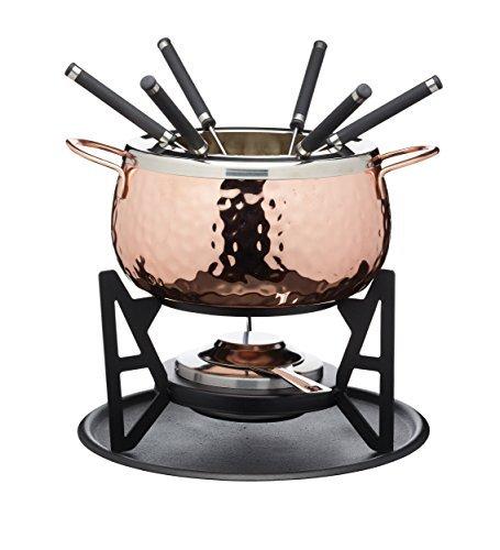 Fondue Set - Copper Finish - Gift Boxed