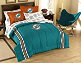 NFL Miami Dolphins Full Bed in a Bag with Applique Comforter