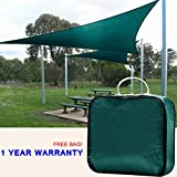 Cheap Quictent Outdoor 20′ x 20′ x 20′ Triangle Sun Shade Sail Canopy Patio Garden Top Cover- Green, with Free Carry Bag