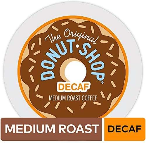 The Original Donut Shop Keurig Single-Serve K-Cup Pods, Medium Roast Coffee, DECAF, 12 Count, Pack of 6