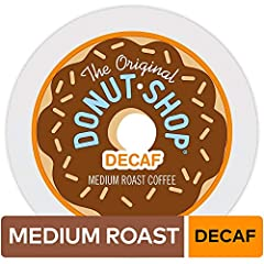Before coffee was complicated, great coffee was simply fresh, bold, and flavorful. The Original Donut Shop Decaf single serve K-Cup pods bring back the classic donut companion in decaf, with this ideally balanced brew of the highest quality A...