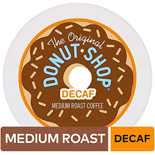 The Original Donut Shop Keurig Single-Serve K-Cup Pods, Medium Roast Coffee 12 count, DECAF (Pack of 6)