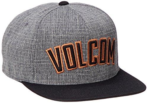 Volcom Men's Fielder Six Panel 110 Snap Back Hat, Papaya, One Size
