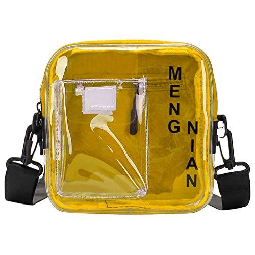 (DDKK backapck Medium Clear Shoulder Messenger Bag - NFL Stadium Approved Crossbody - Multiple Pockets - Adjustable Shoulder Strap)