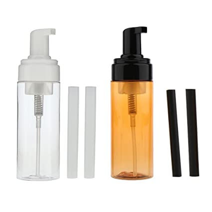 perfk 2pcs 150 Ml Dispensador de Bomba Plástico Vacío de Jabón Espumoso Botella de Spray Recipiente
