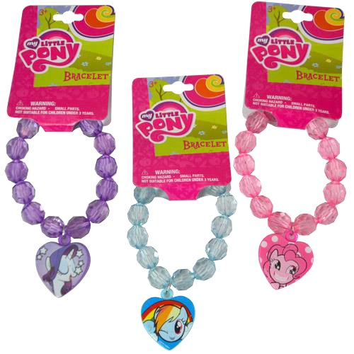 [ Total 3 ct ] Bracelets for gift, party favors etc. (3 ct My Little Pony: Pinkie Pie / Rarity / Rainbow Dash)