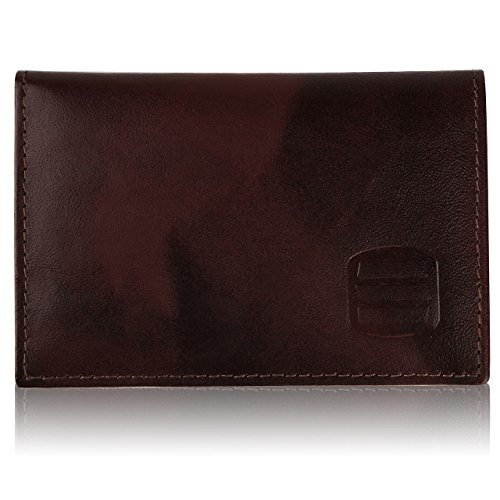 Suvelle Mens Thin RFID Blocking Slim Leather Card Holder Minimalist Front...