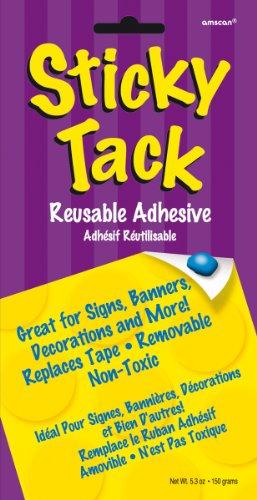 Amscan Mens Sticky Tack Value Pack (5.3 oz.) Blue Medium