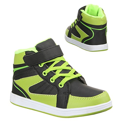 Ital-Design - Zapatillas de Material Sintético para mujer Verde - Grün Schwarz
