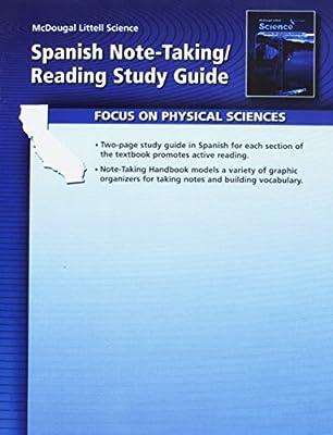 McDougal Littell Science Spanish Note Taking Reading Study