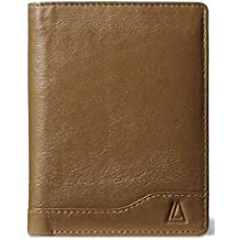 Leather Architect Men's 100% Leather RFID Blocking Bifold Wallet with Fixed ID