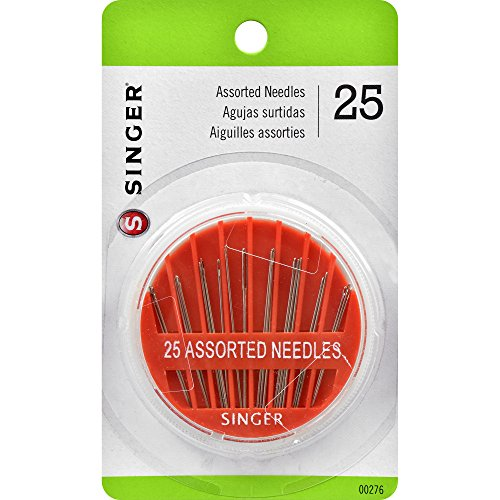 SINGER 00276 Assorted Hand Needles in Compact, 25-Count ()