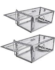 2pcs Silver Rat Cage Trap Snap Humane Safe Mouse Rodent