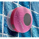 FM Radio Wireless Bluetooth Shower Speaker,Liger® Waterproof Wireless Bluetooth Shower Speaker plus FM Radio & Hands-free Speakerphone (Pink)