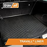 Travall Liner for JAGUAR F-Pace (2016-Current) TBM1154 - All-Weather Black Rubber Trunk Mat Liner