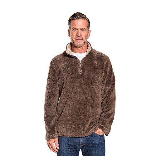 True Grit Men's Pebble Pile 1/4 Zip Pullover (Cocoa,XL)