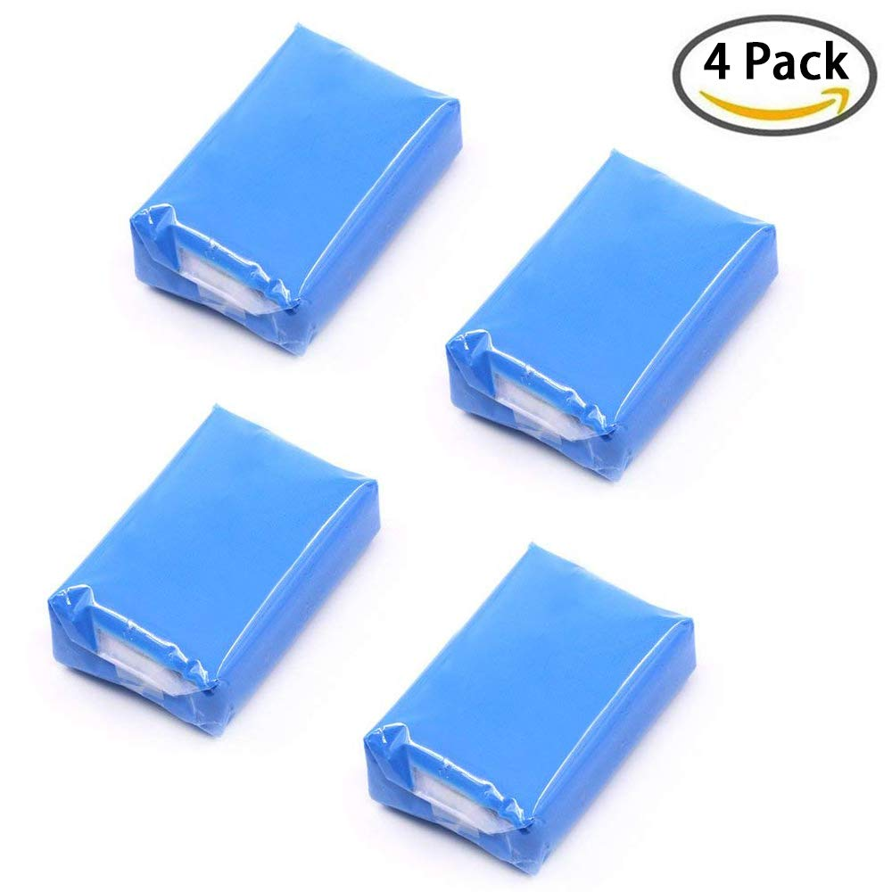 MEYUEWAL Car Clay Bar, 180g with 4 Pack, Car Detailing Clay, Auto Wash Bar with Washing and Adsorption Capacity for Car, Glass, Vehicles and Much More Cleaning, Blue