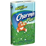 Charmin Bathroom Tissue Plus a Touch of Lotion with Aloe, 8 Giant Rolls (Pack of 5)