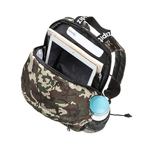 Zipit ZBPM-GR-N6 ZIPIT Grillz Junior Backpack, Camo Green