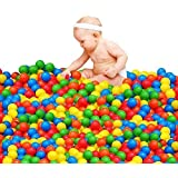 50Pcs Play Balls Soft Plastic Non-Toxic Phthalate-Free Crush-Proof Pit Balls Baby Kids Toy Swim Pit Toys