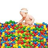 100pcs Play Balls Soft Plastic Non-Toxic Phthalate-Free...