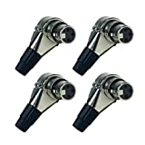 Seismic Audio - SAPT325-4Pack - 4 Pack of Adjustable Right Angle 3 Pin XLR Female Connectors - Pro Audio DJ Band XLR 7 Position Plugs