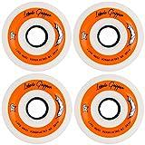 Labeda Gripper Inline Hockey Wheels (White/Black-Soft, 72mm)