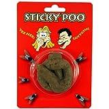 Soft & Sticky Rubber Realistic Fake Dog Poo Waste Turd Prank Poop Joke Fun Novelty