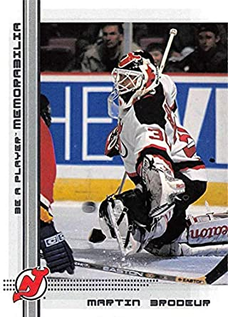 2000-01 Be A Player Memorablia Hockey  40 Martin Brodeur New Jersey Devils  Official dc50b578f