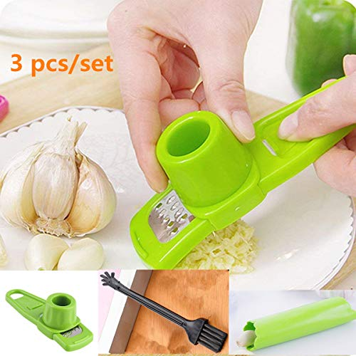 Press Kitchen Accessories - Candy Color Garlic Press Multifunctional Ginger Garlic Press Mini Ginger Grinding Grater Planer Slicer Cutter Kitchen Cooking Gadgets Tools Utensils Accessories