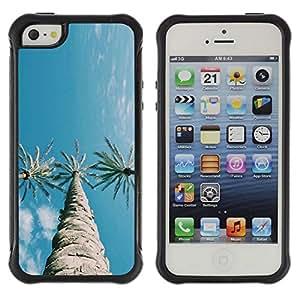 """Hypernova Defender Series TPU protection Cas Case Coque pour Apple iPhone SE / iPhone 5 / iPhone 5S [Tres árboles del cielo azul claro""""]"""